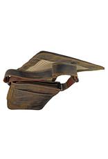 Herrentasche Damentasche Überschlag A4 Büffelleder Dark Nature