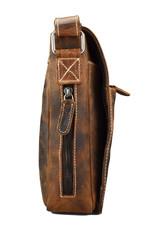 Herrentasche Damentasche Überschlag Büffelleder IPad