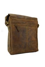 Greenburry Leder Umhängetasche Tablet Tasche  Überschlag
