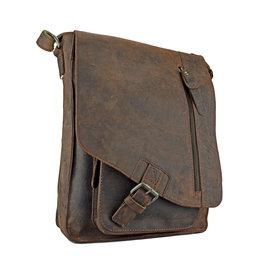 Greenburry Leder Umhängetasche Postmanbag