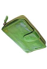 Grosse Damen Geldbörse Washed Leather Lime Grün
