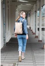 Bull & Hunt Washed Leder Grosse Damen Rücksack  Umhängetasche Hellblau