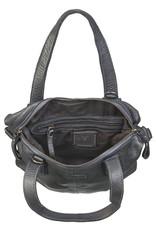Bull & Hunt Washed Leder Handtasche   Umhängetasche Schwarz