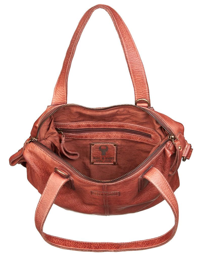 Bull & Hunt Washed Leder Handtasche   Umhängetasche Cognac
