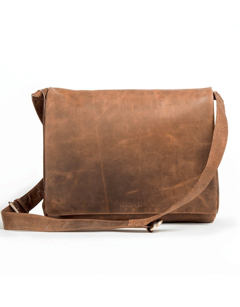 Harold's Leren Overslagtas Messenger Bag Medium