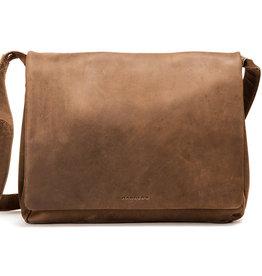 Harold's Leren Overslagtas Messenger Bag Large