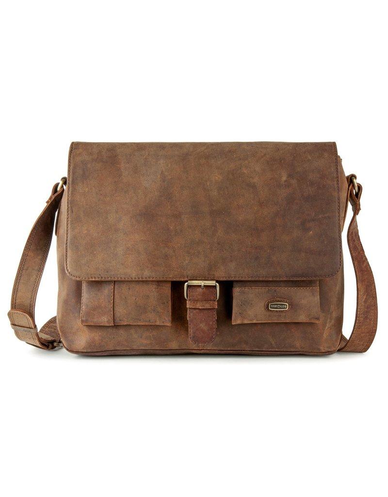 Harold's Leren Schoudertas Messenger Bag met Gesp Large