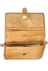 Bull & Hunt Leder Umhängetasche für Handy Gelb