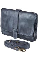 Bull & Hunt Leder Umhängetasche für Handy Blau
