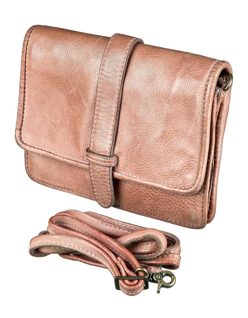 Bull & Hunt Leder Umhängetasche für Handy Sand