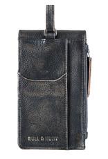 Bull & Hunt Leder Tasche für Handy Festivaltasche Schwarz