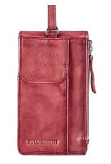 Bull & Hunt Leder Tasche für Handy Festivaltasche Burgundy