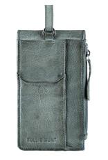 Bull & Hunt Leder Tasche für Handy Festivaltasche Graphit