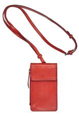 Bull & Hunt Leder Tasche für Handy Festivaltasche Orange