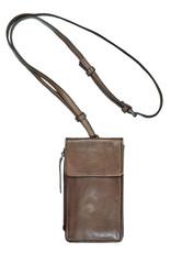 Bull & Hunt Leder Tasche für Handy Festivaltasche Taupe