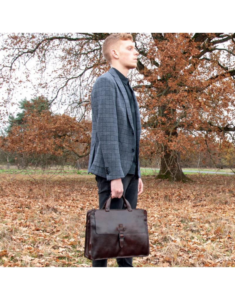 Harold's Retro Klassische XL Leder Arbeitstasche Businessbag
