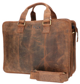 The Rat Pack 17 Inch Leder Laptoptasche Arbeitstasche