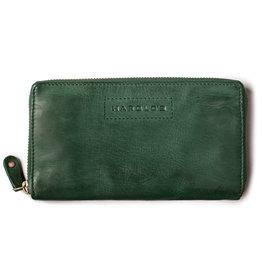 Harold's Leder Damen Geldbörse Reißverschluss Rundum Grün