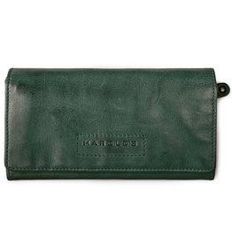 Harold's Leder Damen Geldbörse Überschlag Grün