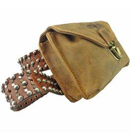 Greenburry Handgefertigte Leder Gürteltasche Bauchtasche Belt Bag