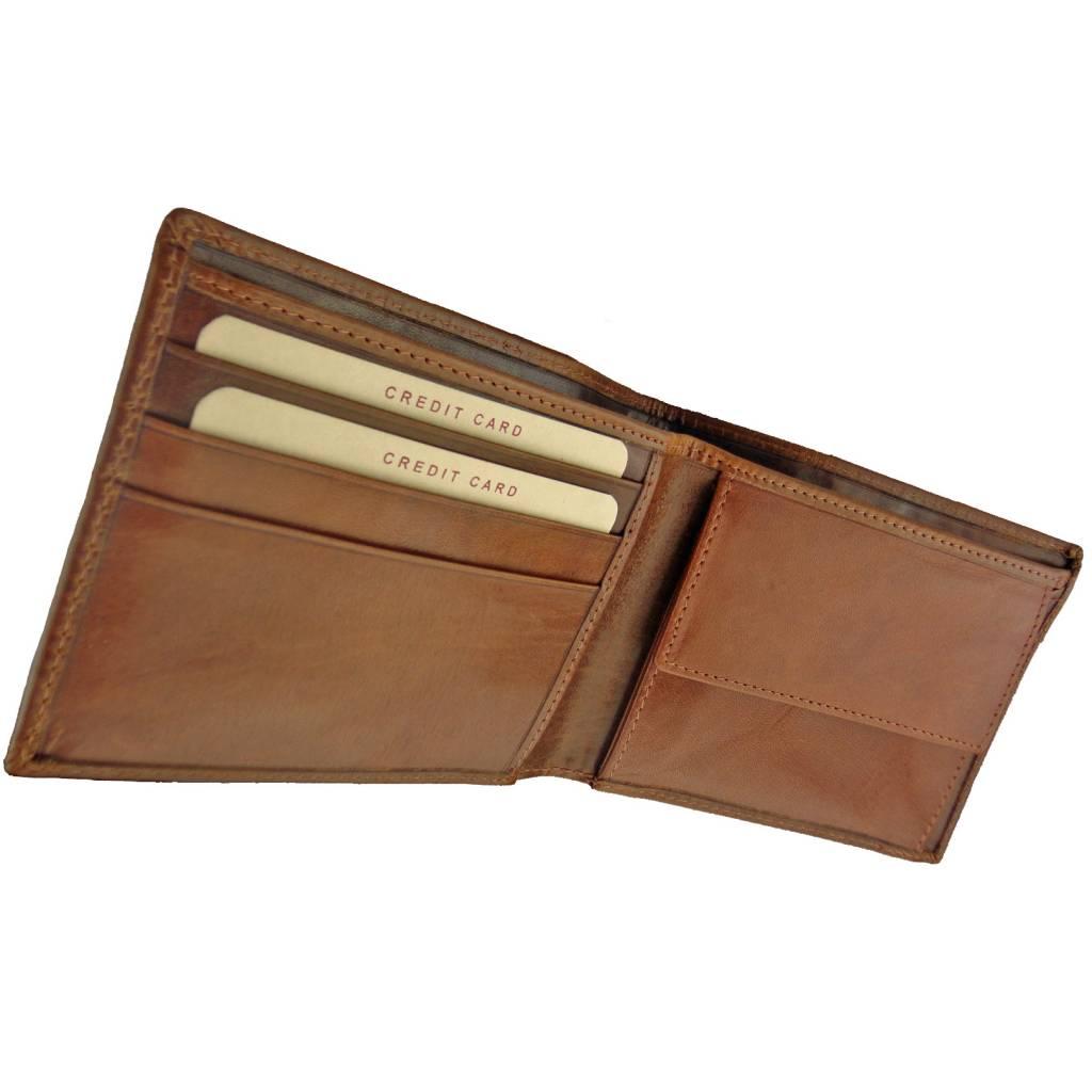 d6d823449b4 Burkely Heren Billfold Eenvoudig Volrund Cognac - Barneys Leather