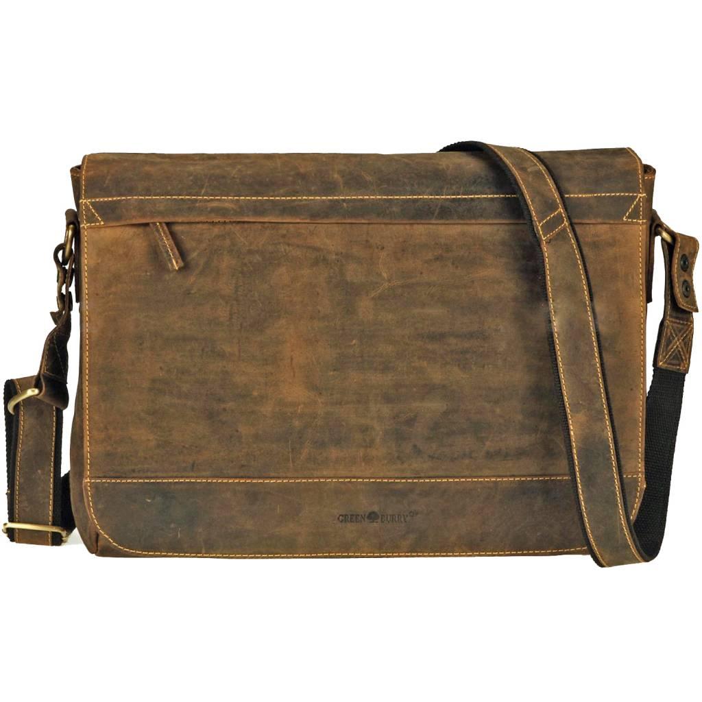 5aa7df41aeb Greenburry Grote Dames Heren Schoudertas Laptoptas - Barneys Leather