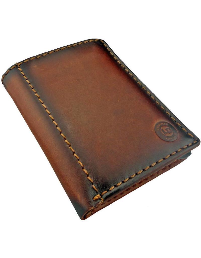 Lederwaren Daniëlle Kreditkartenhalter Geldbörse mit Kleingeldfach Burnt Leather