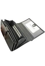Burkely Große Damen Geldbörse Aus Weichem Rindsleder Mit Viele Kreditkartenfächer Schwarz