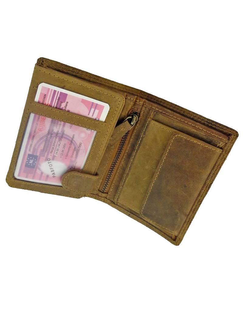 Herren Geldbörse Mit Hand Gebrannt Anker
