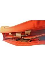 Orange Fire Leren Fietstas Schoudertas Laptoptas 15 Inch Cognac