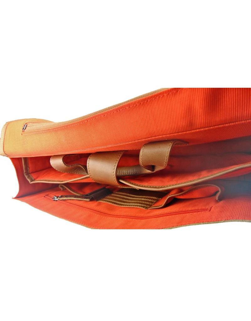 Orange Fire Leder Fahrradtasche Schultertasche Laptoptasche Cognac 15 Inch