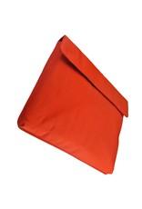 Orange Fire Leder Fahrradtasche Schultertasche Laptoptasche  Schwarz