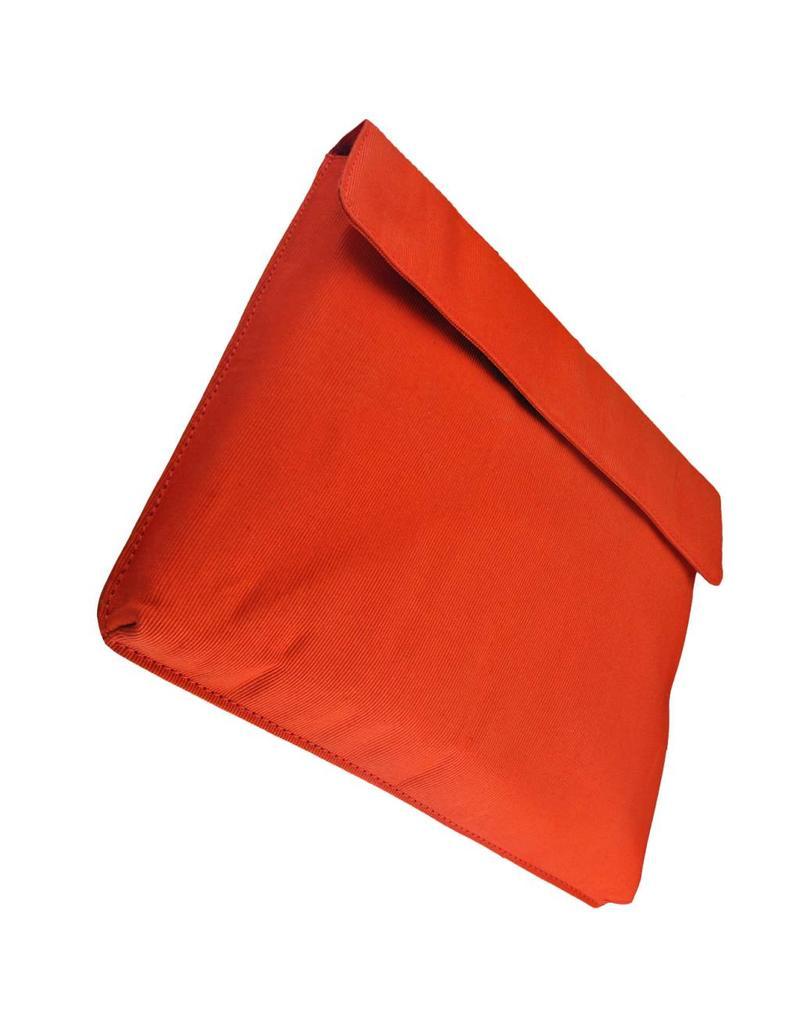 Orange Fire Leren Fietstas Schoudertas Laptoptas 15 Inch Zwart