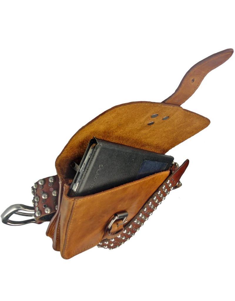862e46d171a Soepel Leren Riemtasje Heuptasje Festival Tasje - Barneys Leather