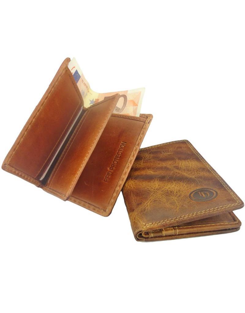 Lederwaren Daniëlle Leder Kreditkartenhalter Mit Scheinfach Burnt RFID