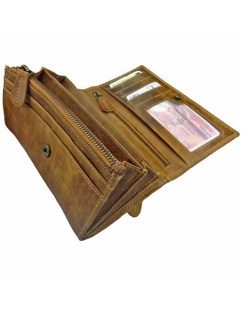 Lederwaren Daniëlle Luxe Leren Dames Portemonnee Envelop Model