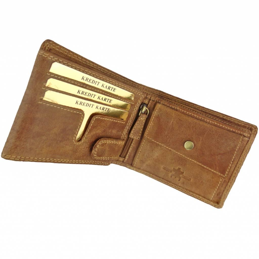 Portemonnee Heren Creditcard.Luxe Heren Portemonnee Buffelleer Leer Gevoerd Laag Barneys Leather