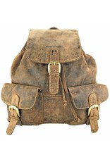 Greenburry Rindlederner Damen Herren Rucksack Medium