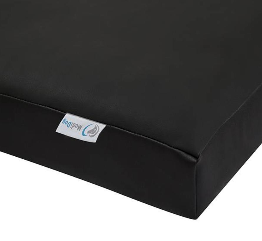 MediDog orthopedisch hondenkussen leatherlook firm  black