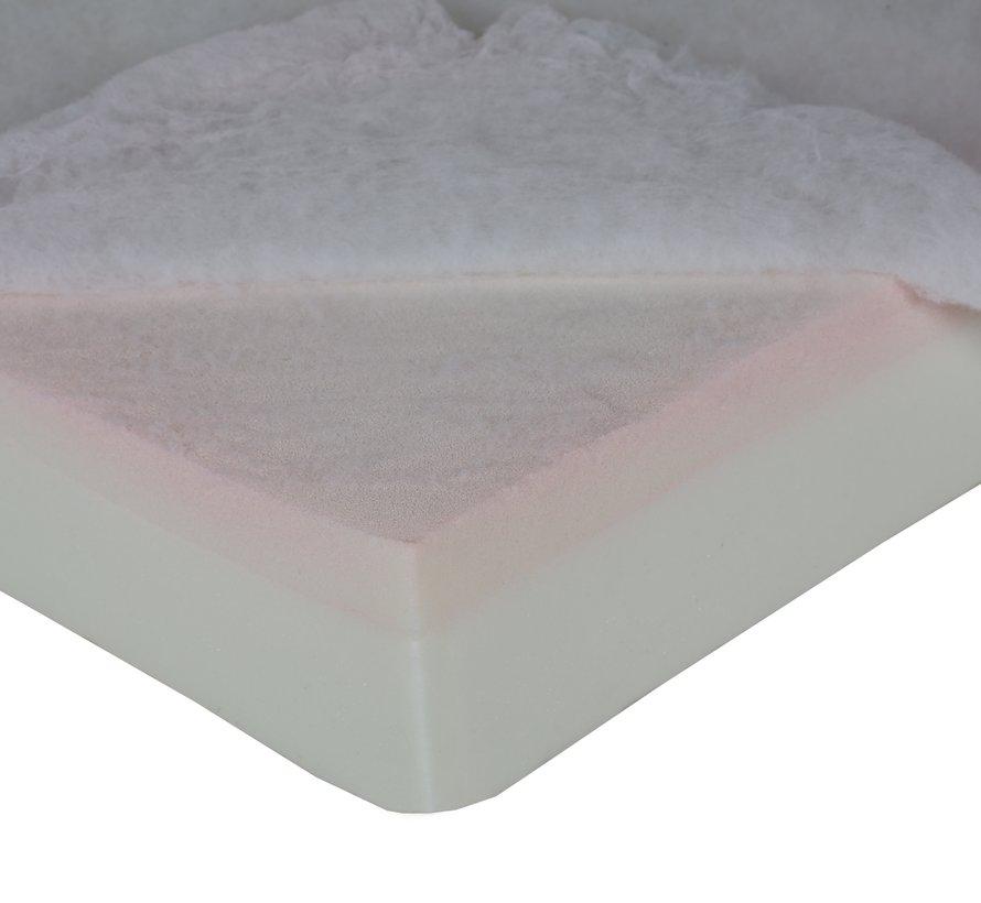 MediDog orthopedisch hondenkussen leatherlook soft beige