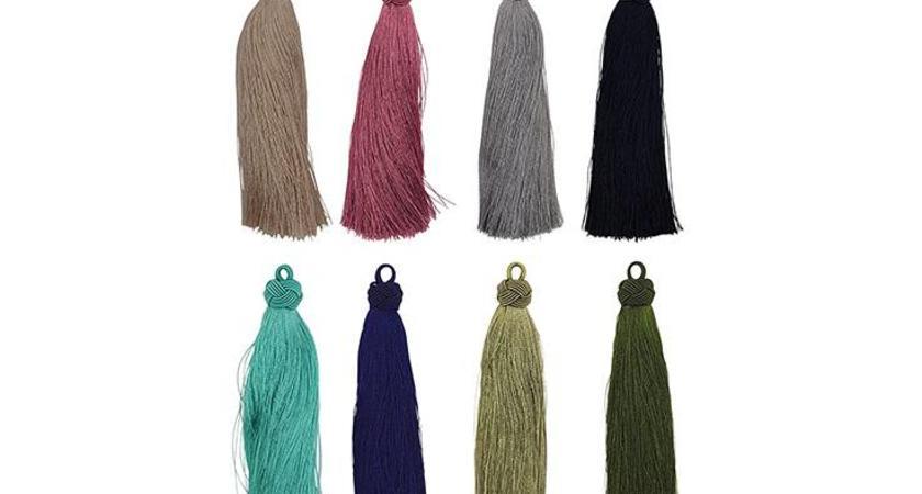 Quaste aus Textilien
