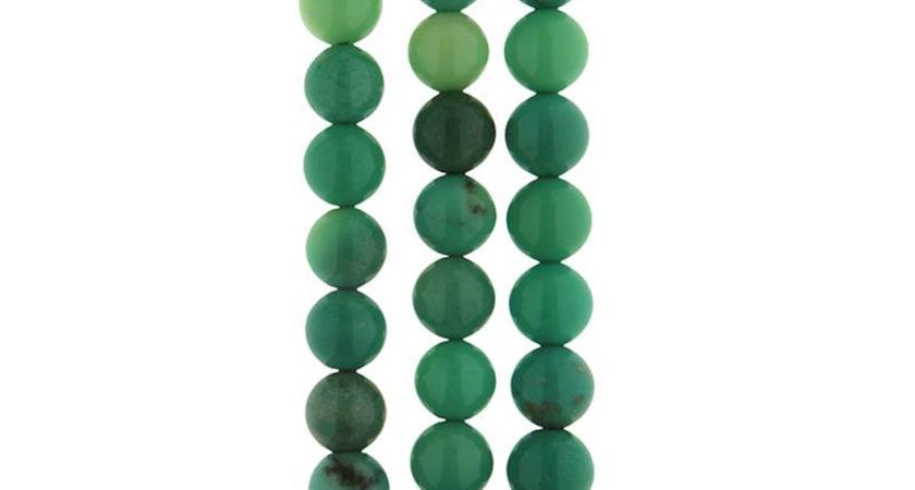 Jade apfelgrün gefärbt