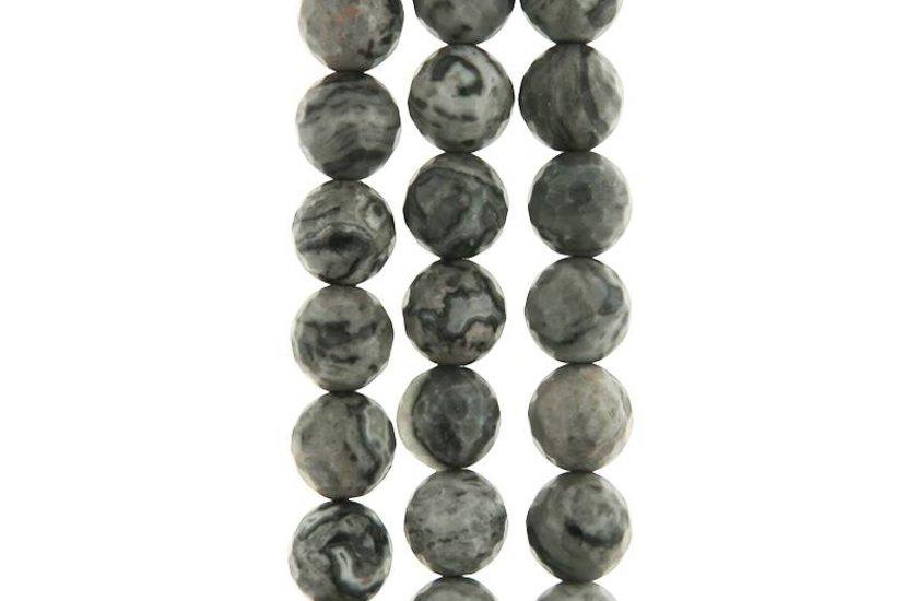 Fossilien-Jaspis grau