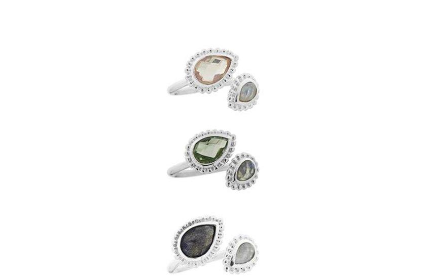 Silberring mit Stein