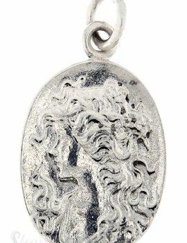 Si-Anhänger:Amulett oval mit Kameliendame