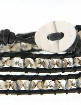 Leather Wrap Bracelet: Velvor 3 x Handgelenk