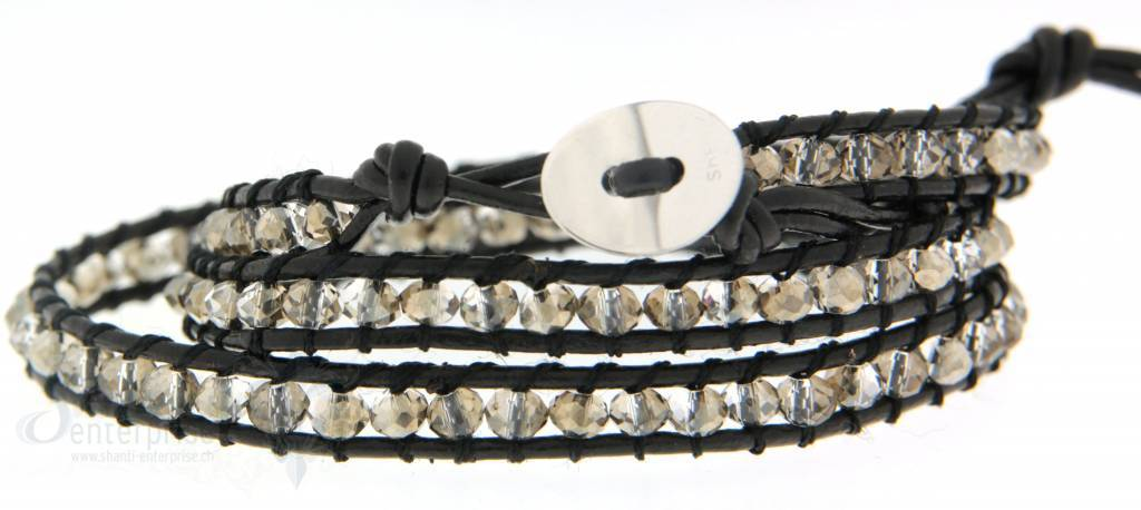 Leather Wrap Bracelet: Velvor 3 x Handgelenk
