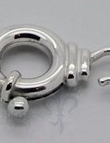 Federringschloss mit 1 Oese zum Oeffnen D: 5 mm