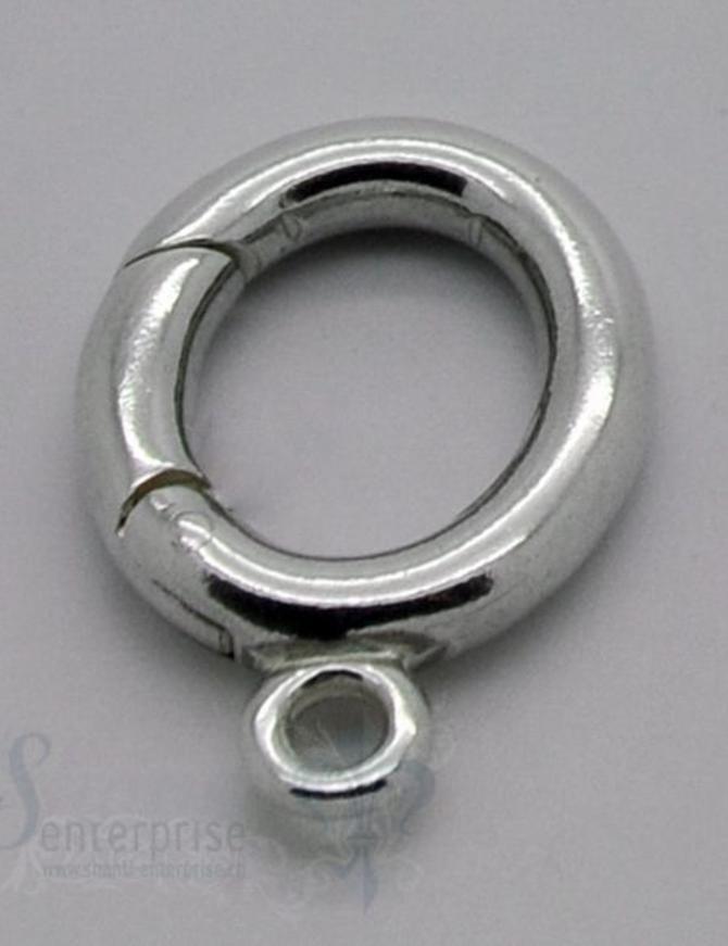 Klickschloss oval mit 1 Oese 16x23 mm