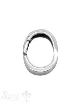 Klickschloss oval kantig 16,5x19 mm